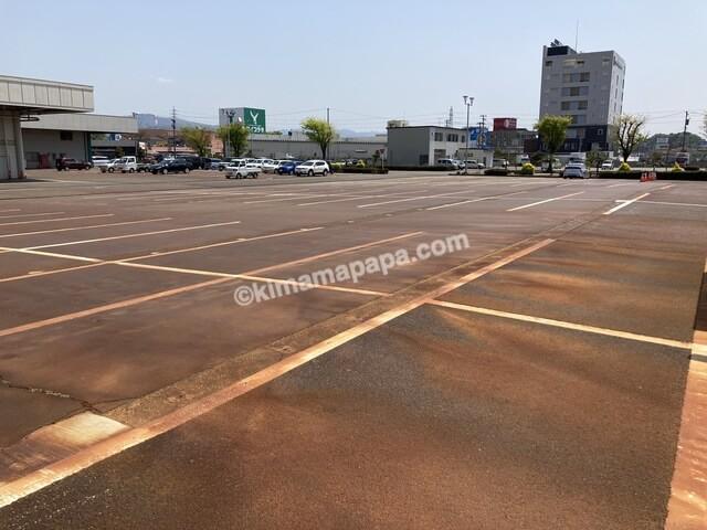 福井市、福井中央卸売市場の駐車場