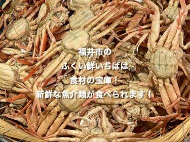 福井市のふくい鮮いちばは食材の宝庫!新鮮な魚介類がめっちゃ豊富!