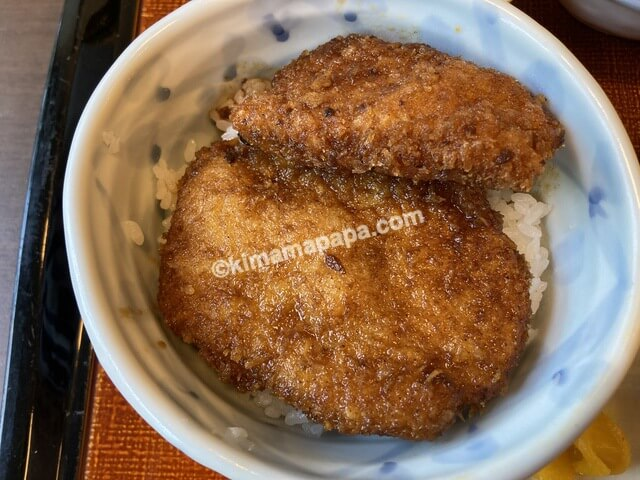 福井市まる八、一膳丼セットのカツ丼