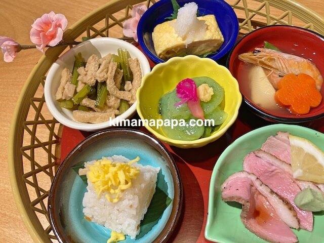 蕎麦Dining一福、一福ランチ「撫子」の花籠6種盛り合わせ
