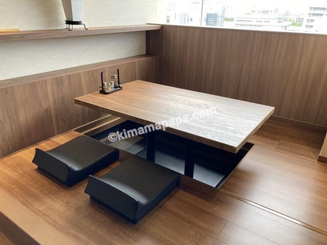 福井市西部福井店、蕎麦Dining一福のお座敷席