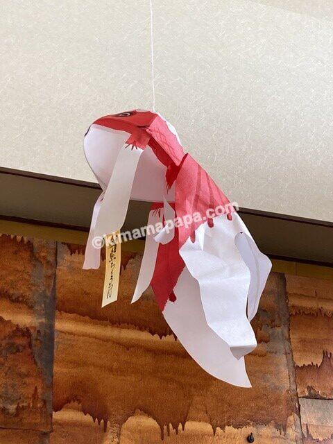 福井市、十九の金魚ちょうちん