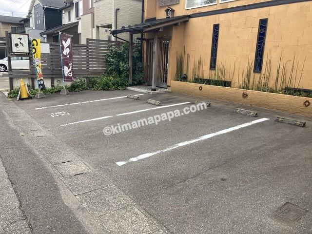 福井市、十九の駐車場