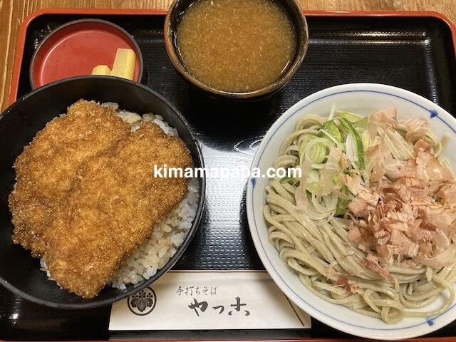 福井市、やっこのかつ丼セット(細麺おろしそば)