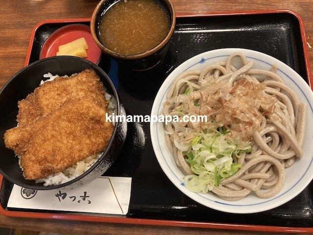 福井市、やっこのかつ丼セット(太麺おろしそば)