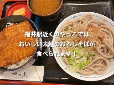 福井駅近くのやっこさんで、おいしい太麺のおろしそばが味わえます!
