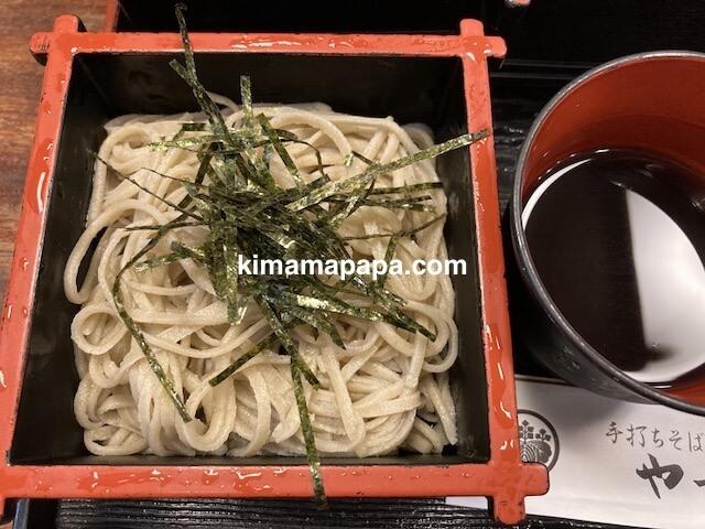 福井市、やっこのおいしがりや、細麺おそば