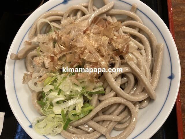 福井市、やっこの太麺おろしそば