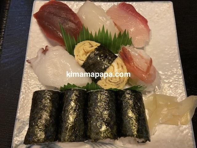 福井市、浜寿司の寿司ランチ