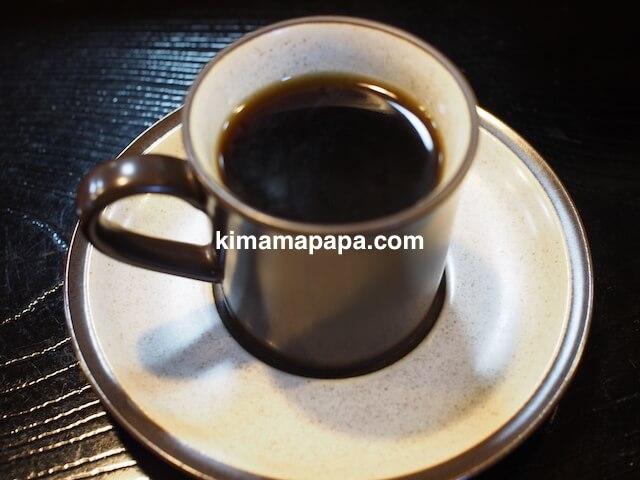 福井、松寿司のコーヒー