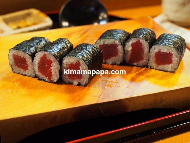 福井、松寿司の細巻き
