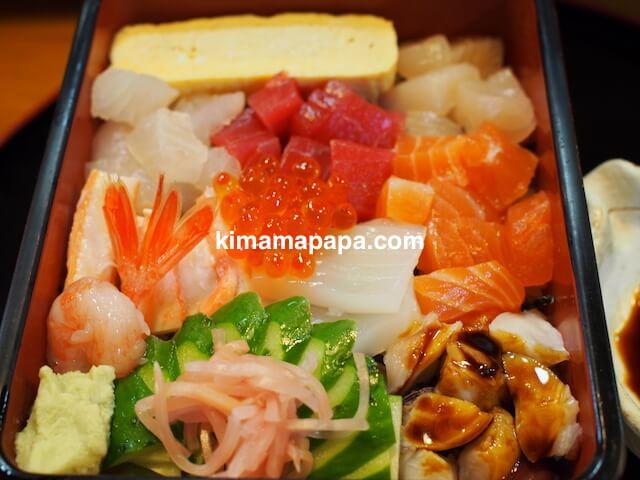 福井、松寿司の海鮮ちらし