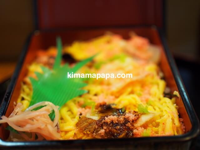 福井、松寿司の関西風ちらし