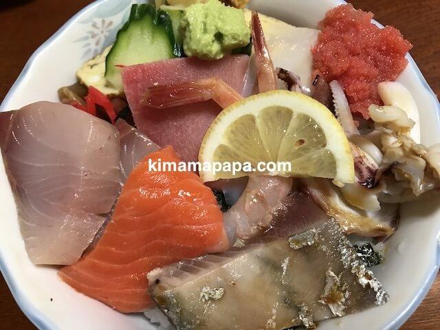 福井市、日本海寿司のランチのちらし