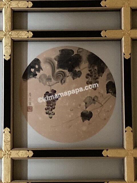 福井県永平寺の傘松閣、絵天井の間のリス