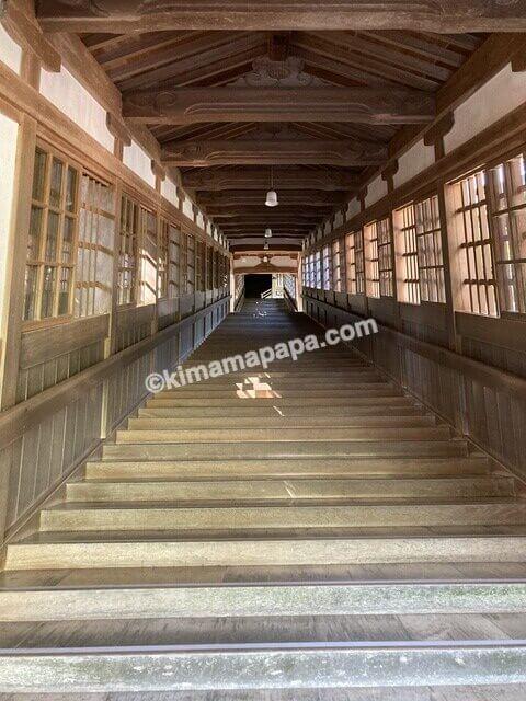 福井県永平寺、仏殿から法堂へ上がる階段