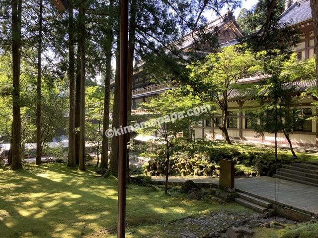 福井県永平寺、祠堂殿から見た吉祥閣