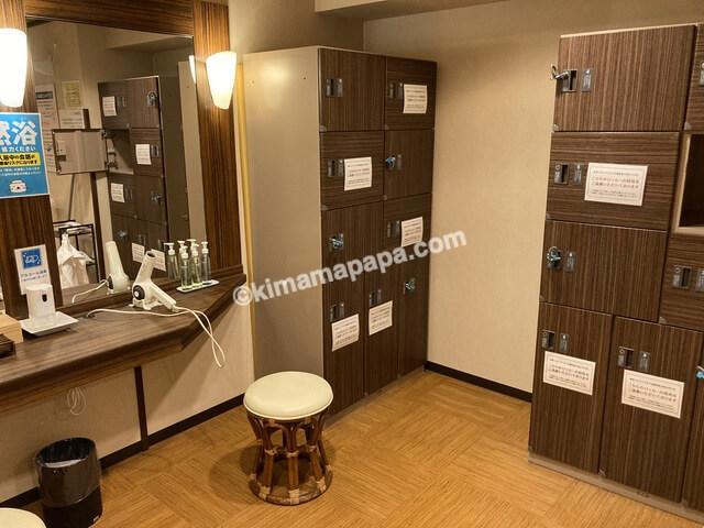 敦賀マンテンホテル、大浴場の脱衣場