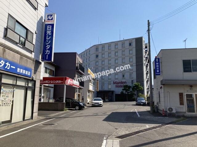 敦賀駅から敦賀マンテンホテルへの道