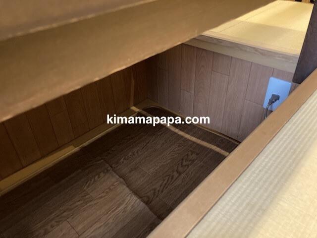 福井市、玄白の個室テーブル