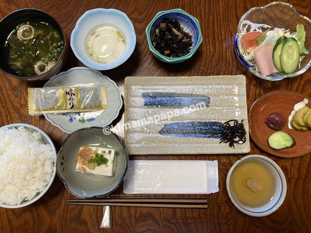 福井県若狭町、松喜の朝食