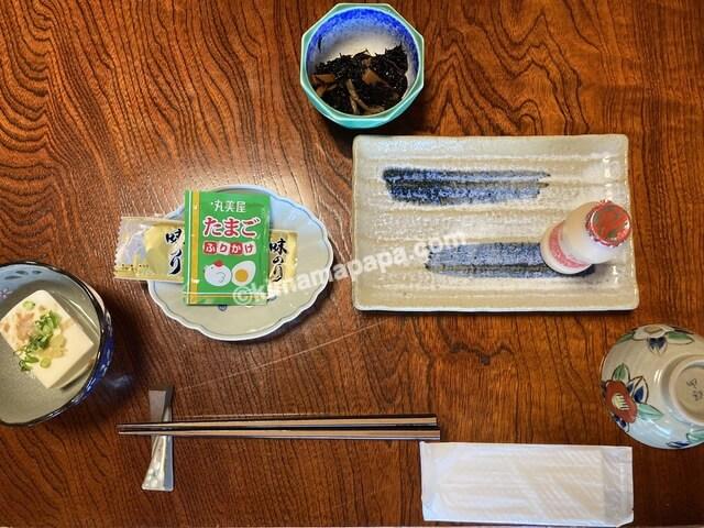 福井県若狭町、松喜の子供用朝食
