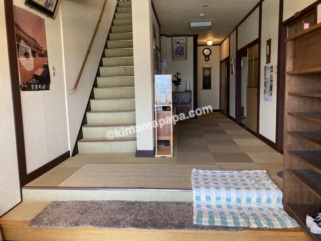 福井県若狭町、松喜の玄関