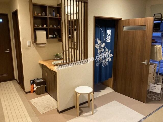 福井県若狭町、松喜のお風呂入口