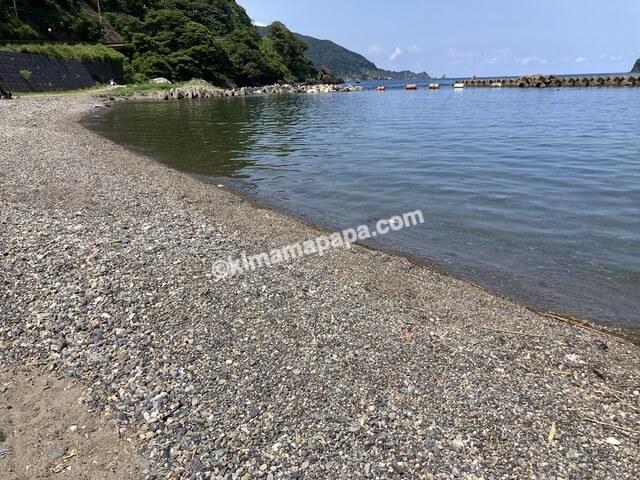 福井県若狭町、世久見海水浴場