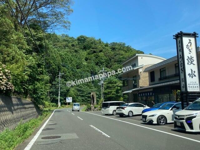 福井県若狭町、うなぎ淡水前の国道162号線