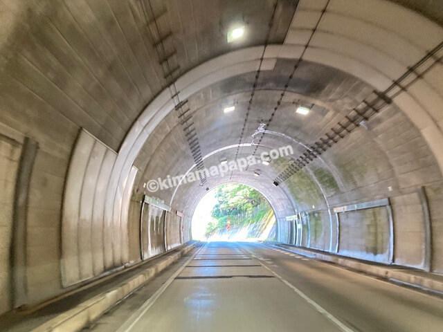 福井県若狭町、国道162号線の世久見へ抜けるトンネル