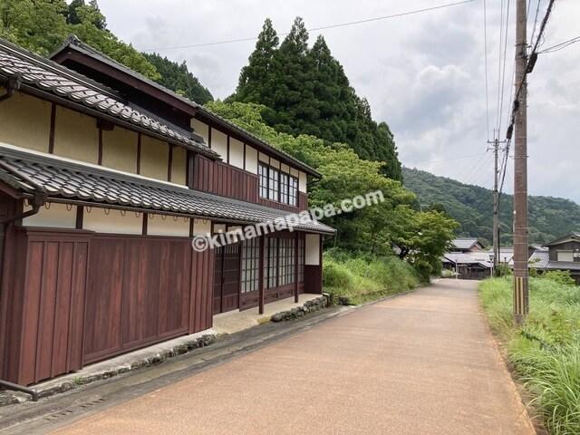 若狭町、熊川宿の街並み