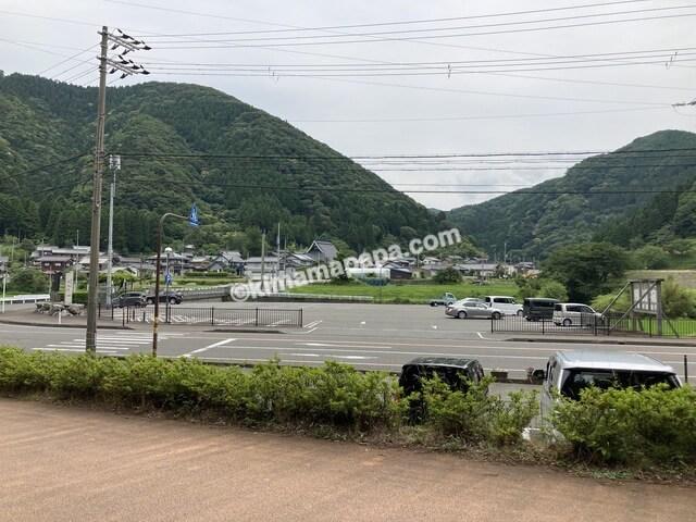 若狭町、熊川宿入口付近の駐車場
