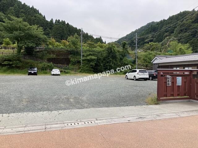 若狭町、熊川宿の駐車場