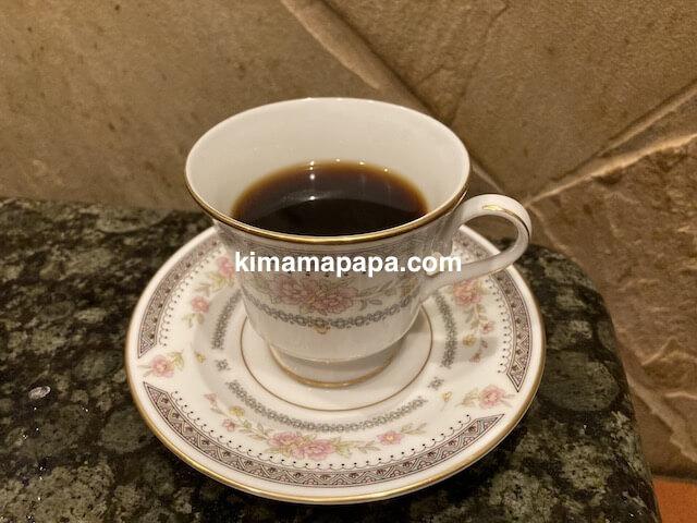 福井市、焼肉大金のコーヒー