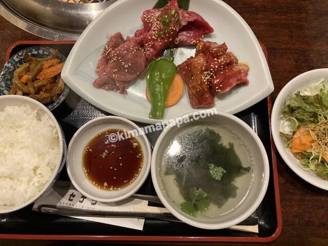 福井市、セナラの焼肉人気盛ランチ140g