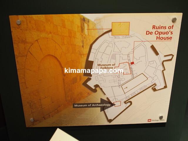 ゴゾ考古学博物館、地図