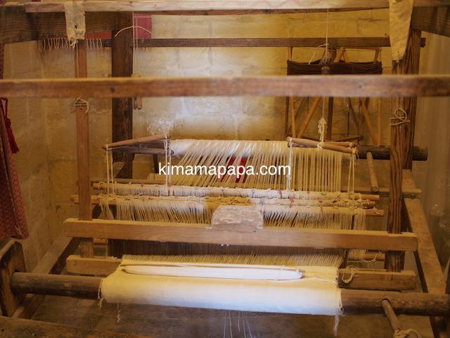 ゴゾ島、民族博物館の機織り機