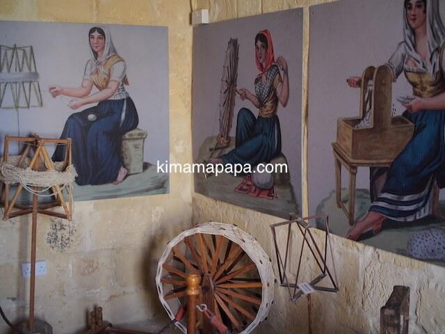ゴゾ島、民族博物館の糸紡ぎ