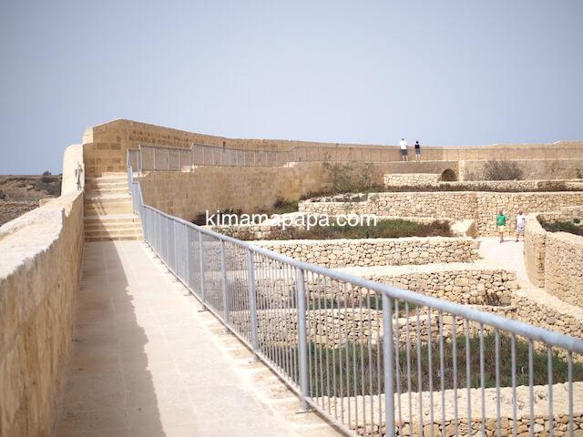 ゴゾ島、チタデルの城壁上の通路