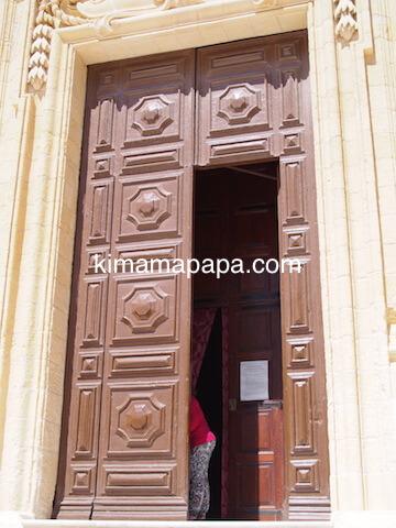 ゴゾ大聖堂の入り口