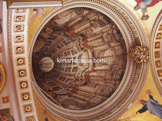 ゴゾ大聖堂のだまし絵