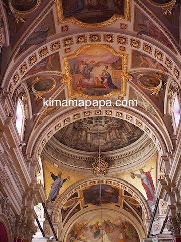 ゴゾ大聖堂の天井