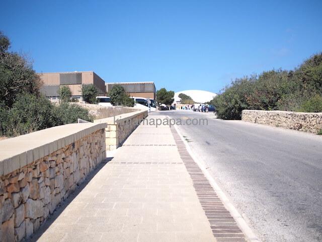 ハジャール・イム神殿の入り口