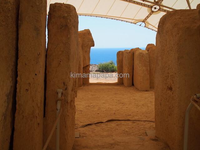 ムナイドラ神殿の中央神殿から見た海