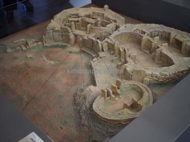 ムナイドラ神殿の模型