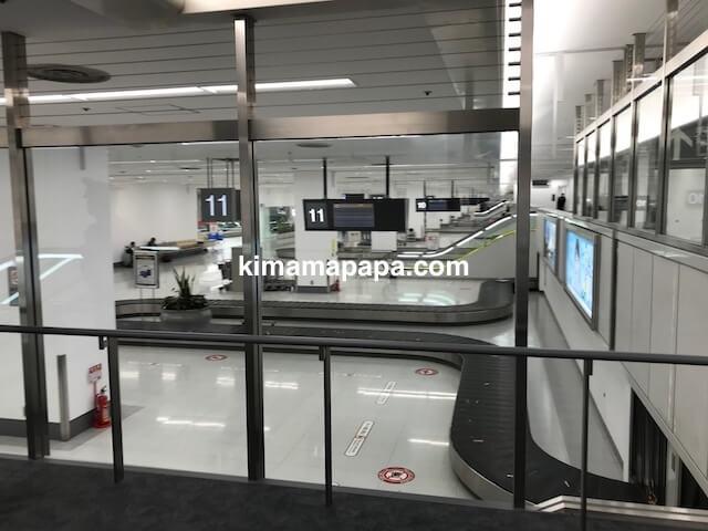 羽田第1ターミナル、手荷物受取所