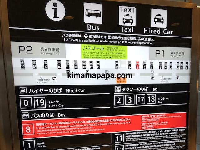 羽田第1ターミナル、バスのりば案内
