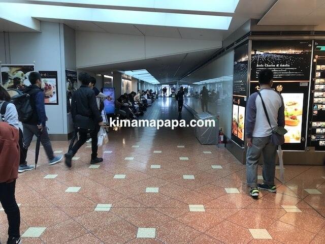 羽田第2ターミナル、展望デッキへの通路