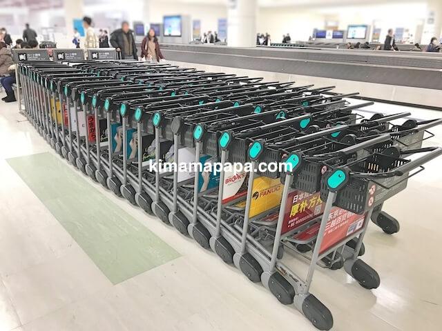 羽田空港第3ターミナル、手荷物受取場のカート